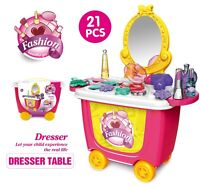 Portable Girls Dress Make up Toy BEAUTY Play Set DOLL Children Kids Gift 3+