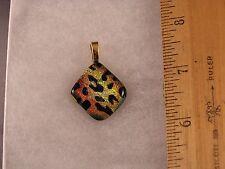 Leopard Spots Animal Print Glass Pendant GA05 Fred Flintstone Look!