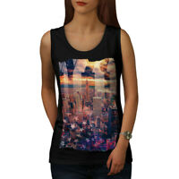 Wellcoda Landscape Photo New York Womens Tank Top, City Athletic Sports Shirt