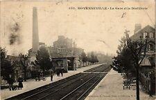 CPA Moyenneville - La Gare et la Distillerie (390878)