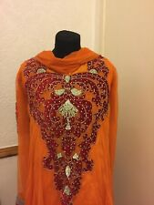 Orange and red churidar party dress