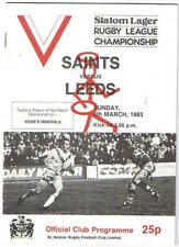 St Helens v Leeds 1982/3