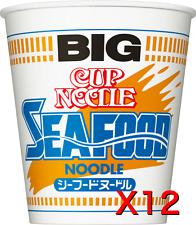 【NISSIN】Japanese popular cup noodles seafood BIG x12pcs