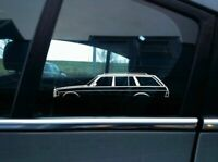 2x car silhouette stickers - for Mercedes W123 | S123 280TE wagon | classic