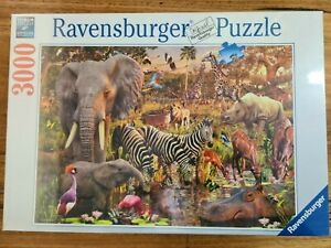 Animal Jigsaw Puzzle 3000pc ravensburger Giraffe Elephant Lion Bird Zebra Parrot