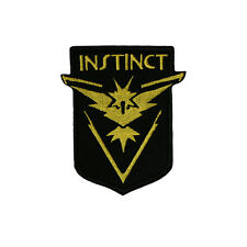 POKEMON GO Iron on and Sew On Embroidered Patch Yellow Team Logo Instinct