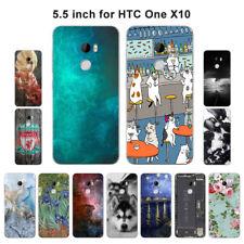 Funda de silicona suave TPU para HTC One X10 E66 vista de protección posterior cubiertas Skins