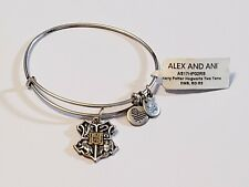 NWT Alex and Ani Two-Tone Harry Potter Hogwarts Bangle Charm Bracelet