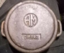 "Antique Original Cast Iron AM Small vintage Handled 3.75"" Pot"
