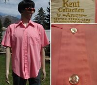 vintage 60's kent by ARROW shirt SANFORIZED butterfly collar USA MADE 16 mens LG