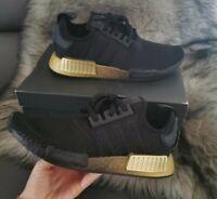 adidas Originals NMD_R1 Shoes Women's Core Black Ombre Gold Gradient New size 7