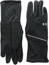 Under Armour 240314 Mens Storm Run Liner Gloves Black/Silver Size Large