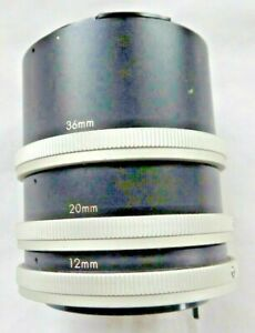 Japanese Set of 3 Extension Tubes 12mm, 20mm 36mm  for Canon FD Film Camera's