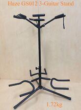 Durable Haze GS012 Metal-Rubber Structure,Tripod-Base 3-Guitar Stands,Black