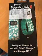 French Bull Designer Sleeve for Fitbit Charge and Charge Hr Teal Nib