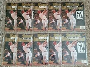 """(10) MARK MCGWIRE """"62"""" SPORTS ILLUSTRATED EXTRA EDITION 9/14/98 NO LABEL MINT!"""