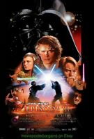 REVENGE OF THE SITH MOVIE POSTER Original DS 27x40 STAR WARS Natalie Portman