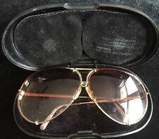 Vintage Porsche Design Carrera Men Sunglasses Case Gold Metal Aviator Xtra Lens