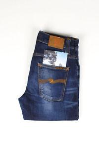 31690 Nudie Jeans Grim Tim Cold Crisp Blau Herren Jeans Größe 30/32