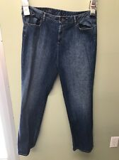 TALBOTS WOMAN HERITGE BOOT CUT MEDIUM WASH BLUE JEANS WOMENS 18W