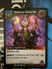 WoW World of Warcraft TCG Trading Card Game - Timewalker Hero Foil Malfurion