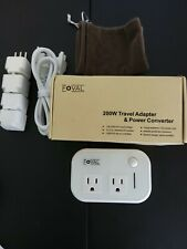 Foval 200 W Travel Adapter And Power Converter