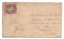 Antique Postal Cover Civil War Halsted's Cavalry Regt Col. Hart Bullseye Cancel
