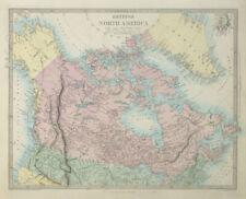 BRITISH NORTH AMERICA. Russian America. Canadian West Greenland. SDUK 1857 map