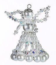 """Weihnachts Bastel-Set aus Perlen - Engel """"Crystal"""" 6 cm"""