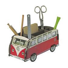 Werkhaus Design + Produktion Stiftebox VW Bus T1 Samba rot 22 x 11 cm, h 10 cm