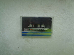 Vintage Audio Cassette TDK MA-C60 From 1979 - Fantastic Condition !!