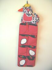 CHILDREN'S RED FABRIC HANGING SHOE STORAGE BAG