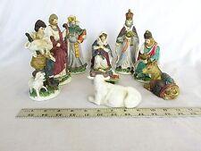 Nativity Set 9 Pieces Hand Painted Porcelain