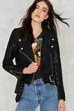 Nasty Gal Atomic Vegan Leather Leather Jacket large new with tags