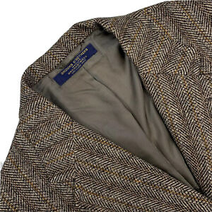 "VTG 42 R Brooks Brothers "" BrooksTweed "" 3/2 Roll Patch Pocket Blazer Made USA"