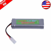 1X 7.2V 5300mAh Ni-Mh Rechargeable Battery Pack For RC Car With Tamiya Plug USA