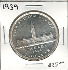 Canada 1939 Silver Dollar $1