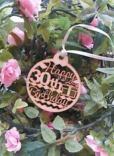 Happy 30th Birthday Wooden Gift Tag