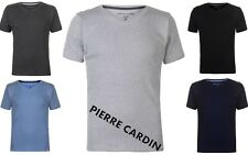 New Guys  Pierre Cardin Ribbed V Neck T Shirt Gym Fitness  S M L XL XXL 5 Colors
