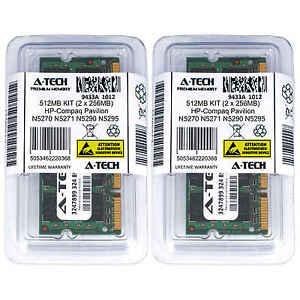 512MB KIT 2 x 256MB HP Compaq Pavilion N5270 N5271 N5290 N5295 Ram Memory