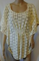 Anthropologie The Addison Story Lunar Cycles Batwing Top Size Large Ivory Lace