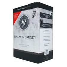 SOLOMON GRUNDY 30 Bottle PINOT GRIGIO Platinum 7 Day White Wine Home Brew Kit