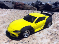 RC Body Car Drift Touring 1:10 Toyota Supra A 90 wide style APlastics New Shell