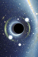 "Black Hole Space Art Print Poster 24"" x 36"""