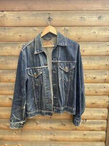 Levi Levis denim jacket large but more like a medium big E style great fades