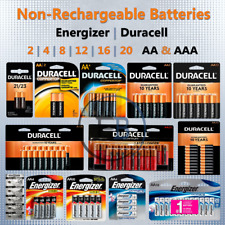 Non-Rechargeable AA AAA Batteries 2 4 8 12 pack lot Lithium Duracell Energizer