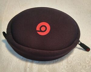 Genuine Beats Headphone Soft Carry Case ONLY Black/Red A1