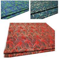 Faux Silk Brocade (Feather Palm Leaf) Jacquard Damask Kimono Fabric Material*BA3