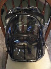 Clear Vinyl Backpack, Pre owned Excellent Condition