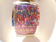 TDF HUGE RED black Fire Opal Solid Silver Silver 925 Pendant $1,200 HUGE!